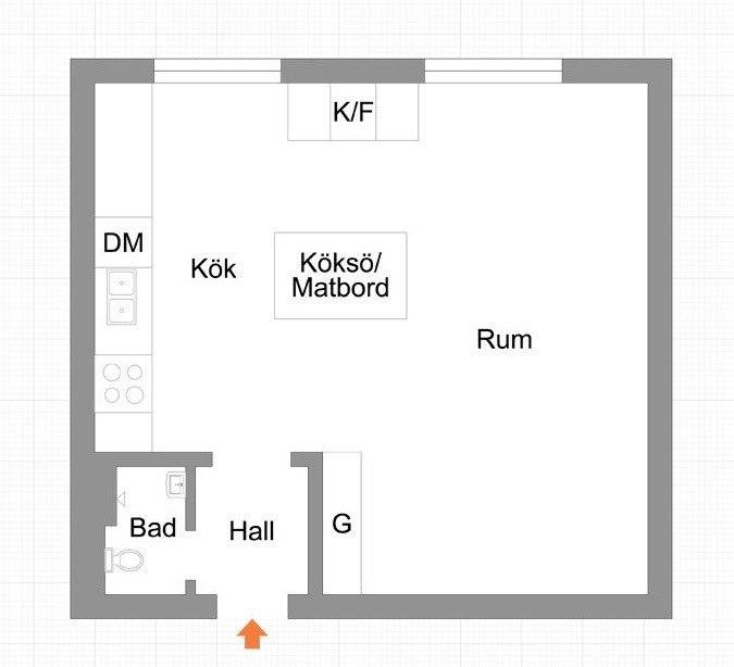 Скандинавская квартира 31 м²