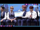 180713 Реакция Wanna One на награду 'Most Meat Consuming Group Award' на KCON 2018 в Нью-Йорке