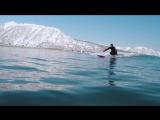 Зимний серфинг в краю вулканов. Winter surf in the land of volcanos