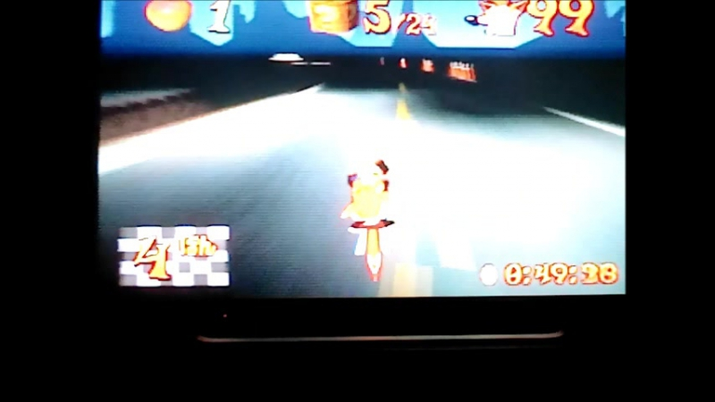 Crash Bandicoot 3Warped(NTSC-J).Area 51.Time Trial.13526(- 2 boxes).Прогресс,прогресс))
