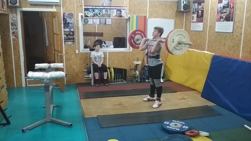 Мигеркин Ростик 13 лет Толчок 80 кг г Калач 13 января 2018