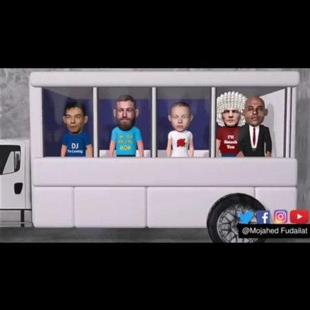 "Mojahed Fudailat on Instagram: ""Conor McGregor Bus 🚌 Attack ufc223 BusAttack ufc animation ..."
