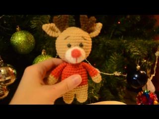 Обзор новогоднего оленёнка-погремушки для самых маленьких