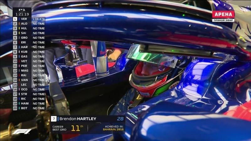 F1.Гран-При Австрии 2018. 1ая практика. Этап09.
