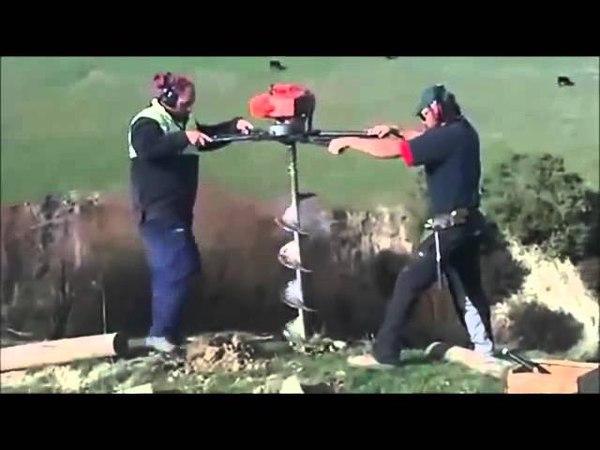 Мотобур земляной Oleo-Mac MTL 85R видео
