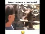 когда споришь с женщиной )))