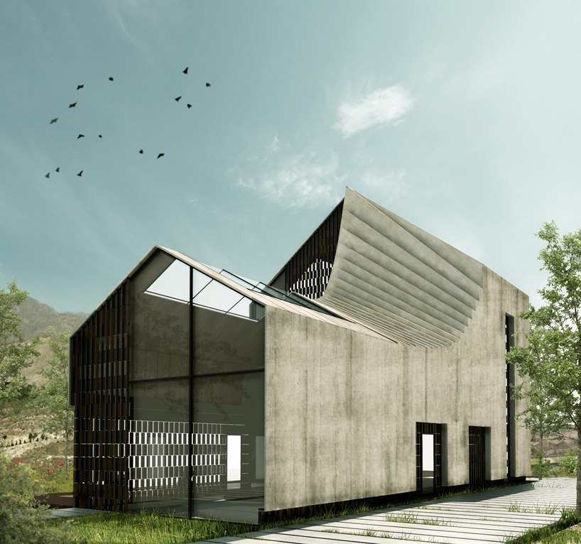 habibeh madjdabadi's 'house of bathe' features a 'mutated' rear volume