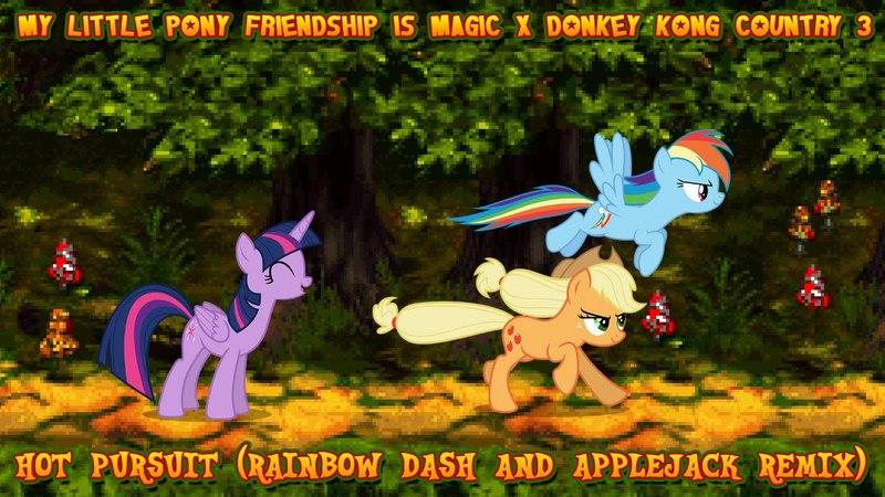 [MLP FiM x DKC3] Hot Pursuit (Rainbow Dash and Applejack Remix)