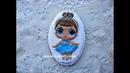 Роспись пряников, имбирного печенья глазурью айсингом. Кукла Лол