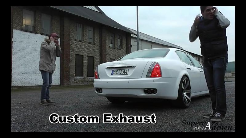 [ 200 Abonnenten Special ] Brutal loud Maserati Quattroporte w⁄Custom exhaust Ride ¦ Revs