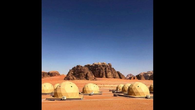 Вади Рам места где снимался фильм Марсианин пустыня в Иордании