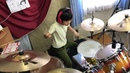 "Led Zeppelin『Good Times Bad Times』 を8歳小2女子ドラマー よよか""が叩いてみた 8year old drummer ""Yoyoka"