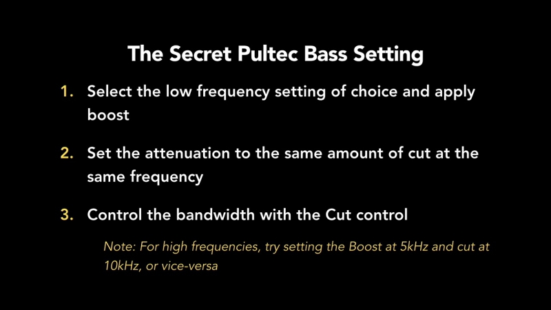 55 - The Secret Pultec Bass Setting