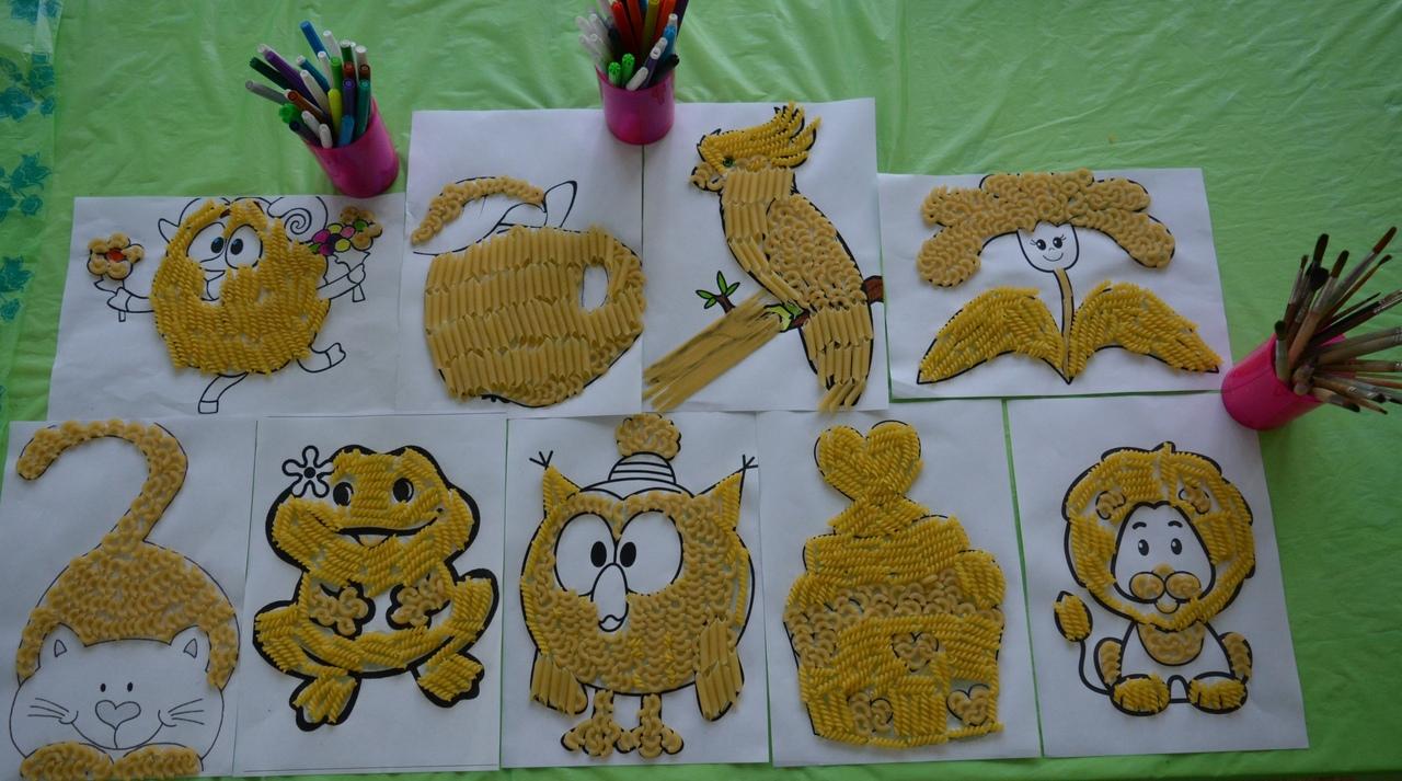 картинки работы с макаронами