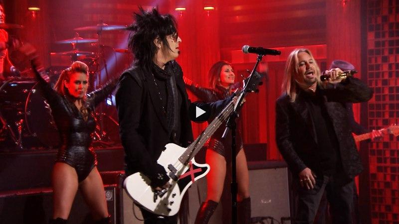 Mötley Crüe - Girls, Girls, Girls Live @ The Tonight Show Starring Jimmy Fallon 2015