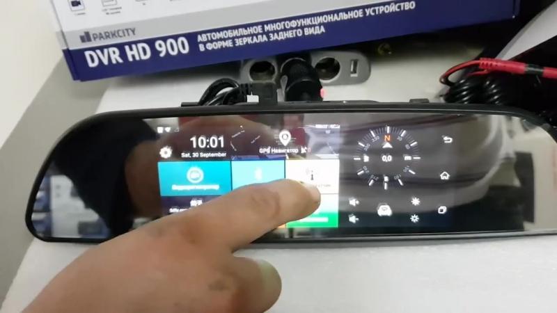 Зеркало-видеорегистратор Full HD с камерой заднего вида и функцией парковки