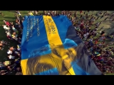During Nicky Romero's Tomorrowland set a group of Swedes raised a massive flag in tribute to Avicii