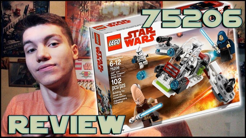 Lego Star Wars 75206 Jedi Clone Troopers Battle Pack Review | Обзор ЛЕГО Звёздные Войны
