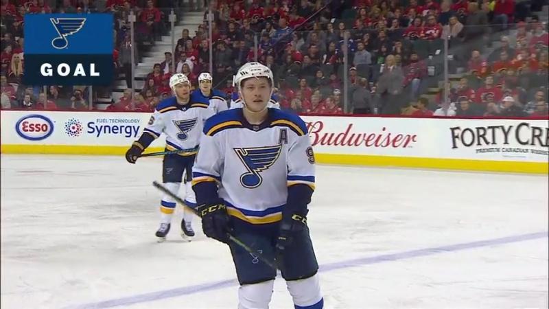 9-й гол Владимира Тарасенко в сезоне 2017/18 НХЛ Сент Луис Блюз - Калгари Флеймз 14.11.2017