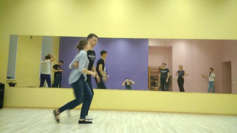 LINDY HOP Beginners. Sarasonov Oleg Staroverova Asya 2018.04.16