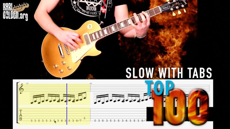 Top 100 Rock Riffs Medley | GUITAR TABS | PART ONE