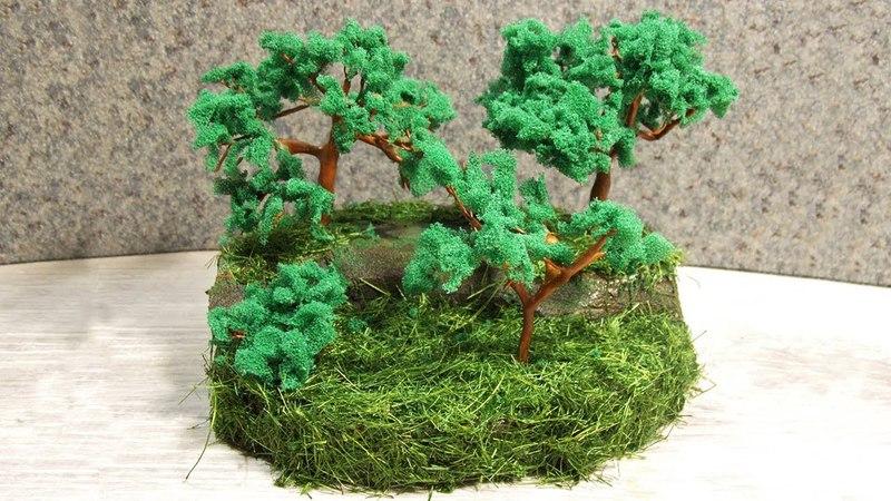 Как сделать миниатюрное дерево. Мини композиция (диорама) своими руками