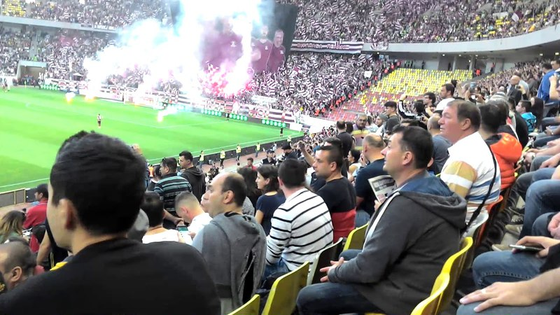 FHD Liga 4 CSA Steaua VS Academia Rapid - Ultras Show At Start Of Match (2018.04.14)
