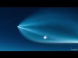 Потрясающий таймлапс полета ракеты-носителя Falcon 9 в небе над городом Юма, шта