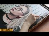 Портрет по фото на холсте в стиле Под Масло с гелем