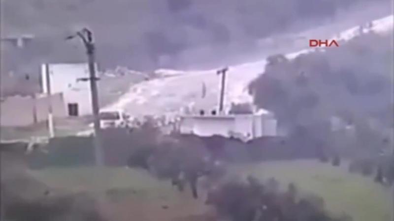 Момент уничтожения блок-поста РПК в Африне.