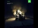 Сожжение храма из веток