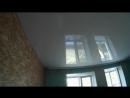 Белый матовый и глянцевый натяжной потолок 2 комнаты Брединский р-н с.Боровое