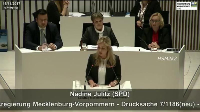 Eine Zwischenfrage eines AfD-Abgeordneten verwirrt Nadine Julitz -SPD-
