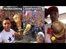 France Footballers Celebrating The World Cup Title With Fans After Coming Home