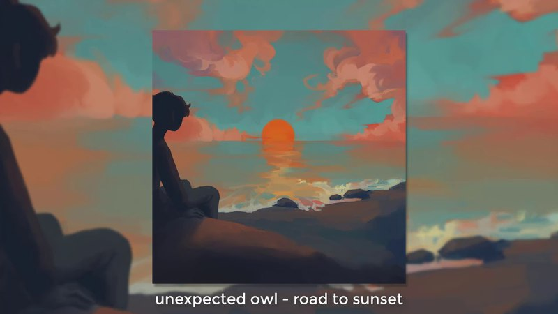 Unexpected owl - road to sunset