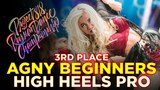 AGNY BEGINNERS, 3RD PLACE HIGH HEELS PRO