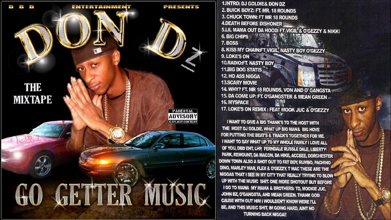 Don Dz - Go Getter Music 2008 FULL CD (NORTH CHARLESTON, SC)