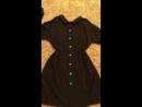 Объёмное хлопковое платье, размер S ( ОВЕРСАЙЗ s-m, на 42-44-46) , 2 боковых кармана, можно носить пуговицами спереди и сзади!