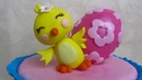 Chick out of fondant - Easter Cake Topper l Delicious Sparkly Cakes
