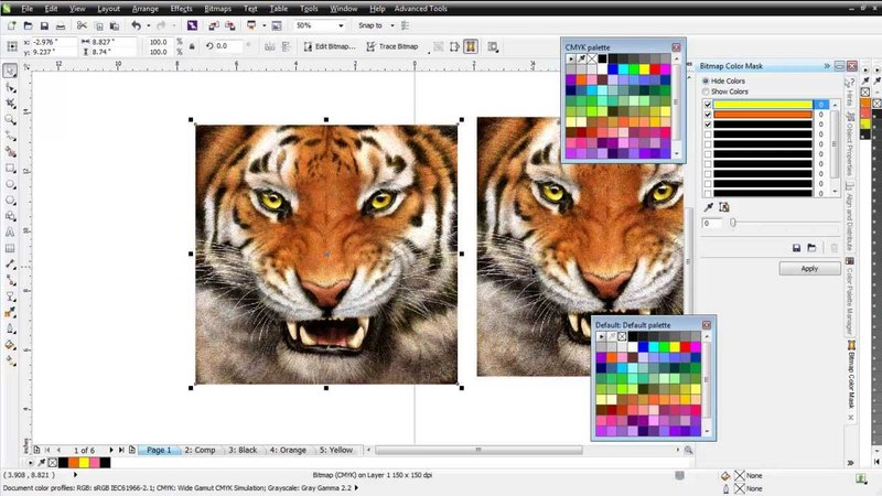 Index Color Separations in CorelDRAW