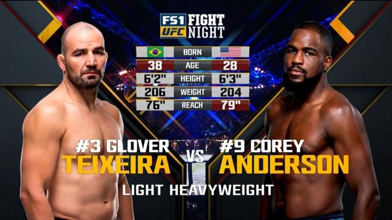UFC FN 134 Corey Anderson vs Glover Teixeira