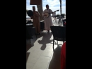Местный фолклор в кафе. Агадир. Марокко.