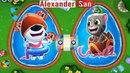 ГОВОРЯЩИЙ ТОМ АКВАПАРК ОХОТА ЗА ЯЙЦАМИ мультик игра видео для детей Talking Tom Pool Egg Hunt