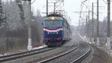 Электровозы ЧС7-059, ЧС7-035 с поездом № 025 Москва - Минск
