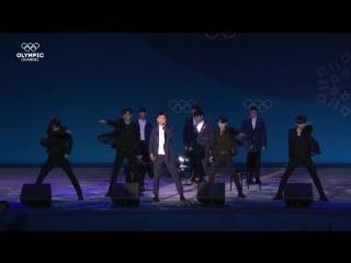 14.02.2018. Медал плаза. Выступление BTOB - Missing you #KPop #Пхенчхан2018
