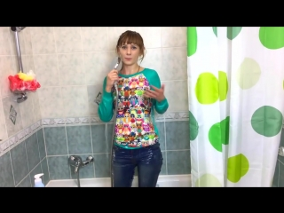 HOT RUSSIAN GIRL UNDER THE SHOWER WITH FULLY CLOTHES