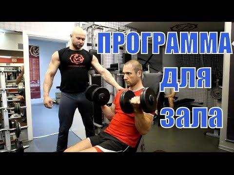 Программа тренировок для тренажерного зала. 3 раза в неделю - сплит