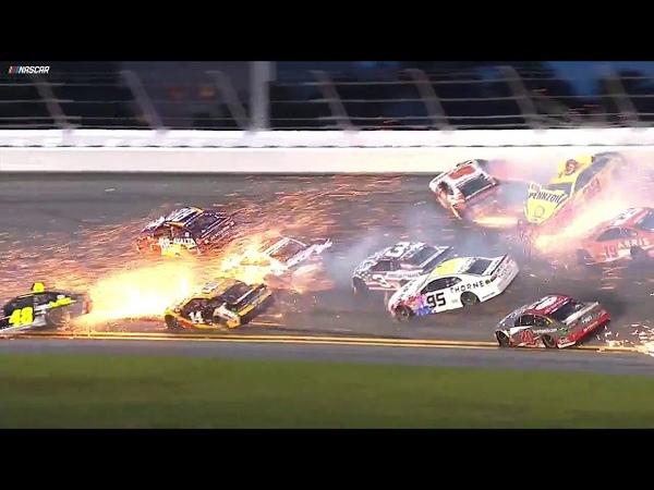 Mayhem at Daytona! Multi-car wreck unfolds