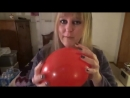 SugarSweetz - Birkenstock and Nylons Stomp POP Lightly Inflated Red Balloon