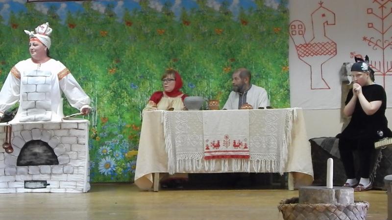 сказка Печь-матушка д.Вонозеро на областном празднике вепсской культуры 2018 Энарне ма